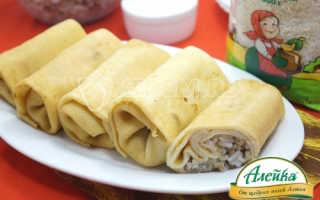 Блинчики с мясом и рисом. Пошаговый рецепт с фото
