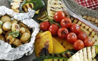 Как приготовить овощи на мангале?