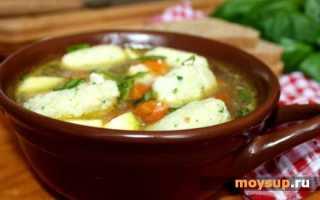 Суп с картофельными клецками