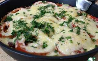 Пицца на сковороде без майонеза за 10 минут пошаговый рецепт