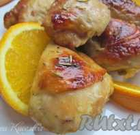 Курица в имбирно медовом соусе с апельсинами