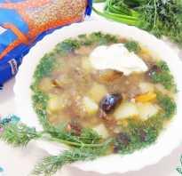 Грибной суп рецепт с гречкой