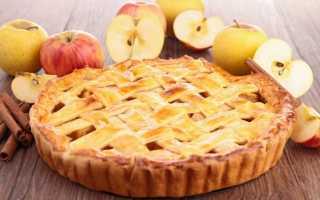 Яблочный пирог который тает во рту — рецепт на кефире и на сметане в духовке