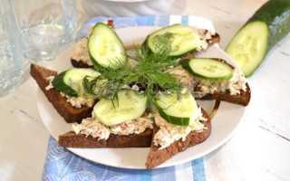 Рецепты закусочных бутербродов с печенью трески