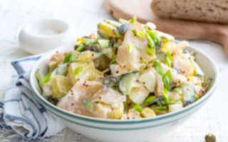 Салат рыбный с картошкой классический – прекрасная интерпретация