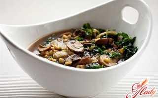 Рассольник с грибами: готовим и едим с аппетитом