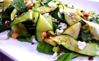 Простые рецепты вкусных салатов из свежих кабачков с огурцами и другими овощами