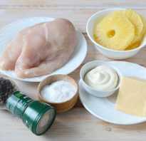 Курица в духовке с ананасами