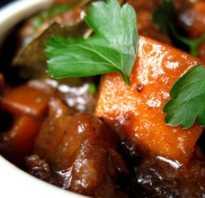 Готовим вкуснятину – рагу из говядины. Сытные и простые вариации на тему рагу из говядины: с фасолью, черносливом, грибами