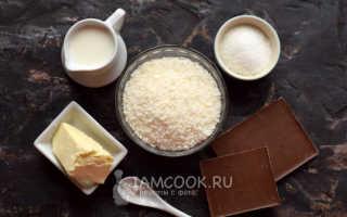 Домашний баунти рецепт