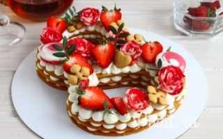 Торт цифра рецепт из медовых коржей. Как сделать торт цифру
