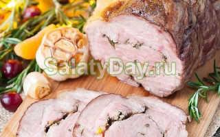 Рулет из свинины вареный — бюджетно и эффектно. Принципы приготовления рулета из свинины вареного:простого и с начинкой