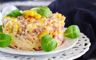 Салаты с копченой и вареной колбасами – быстрые и вкусные блюда –