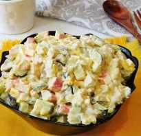 Яркий, свежий и легкий салат с огурцами и крабовыми палочками «Аленка»