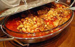 Тушеная фасоль с мясом. Пошаговый рецепт с фото